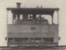 Werkfoto von Krauss & Cie einer Münchner Dampf-Trambahn Lok tram lok