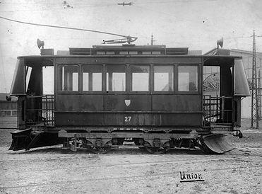 Schneepflugwagen  Typ: S 1.22 Betriebsnummer: 27 München tram