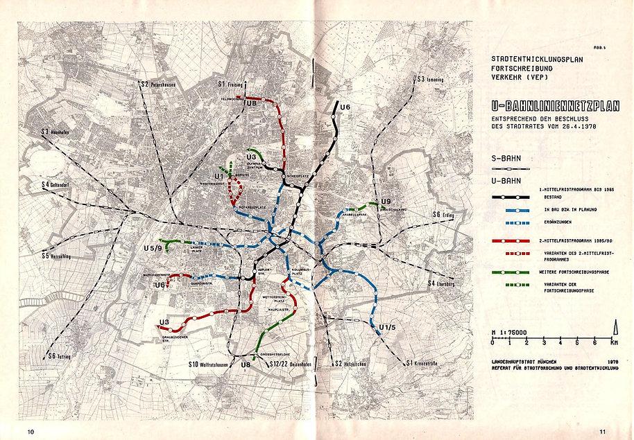 Die Planung des U-Bahn-Ausbaus nach dem Stadtratsbeschluß vom 24.4.1978