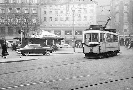 A-Tw 278 am Viktualienmarkt 7.1.1955 tram münchen