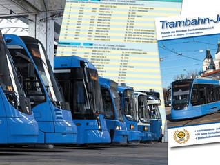 Der Wagenpark von Trambahn, Bus und U-Bahn in München