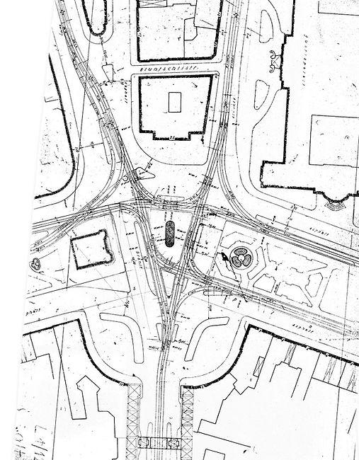 1954 Streckenplan Bereich Karlsplatz Sta