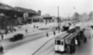 Linie 3 unterwegs am Hauptbahnhof 1946 tram münchen
