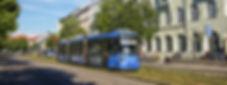 Linie 25 von Berg am Laim kommend fährt am Unionsbräu vorbei münchen tram
