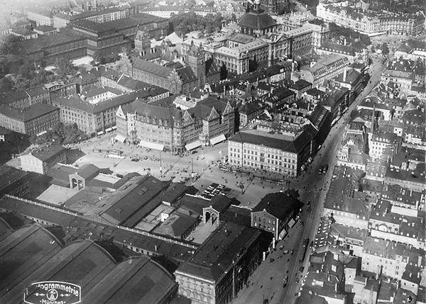 1930 Hauptbahnhof Luftaufnahme Stadtarch