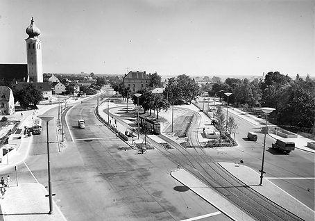 Blick auf die neue Endhaltestelle Ramersdorf tram trambahn münchen munich