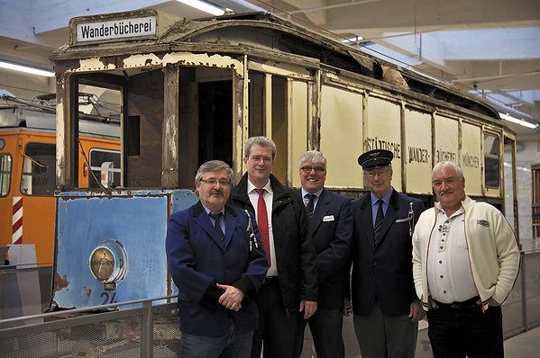 V.l.n.r.: Klaus Onnich, Markus Trommer, Dietmar Freymann, Peter Hübner, Roland Pötzschke tram münchen fmtm