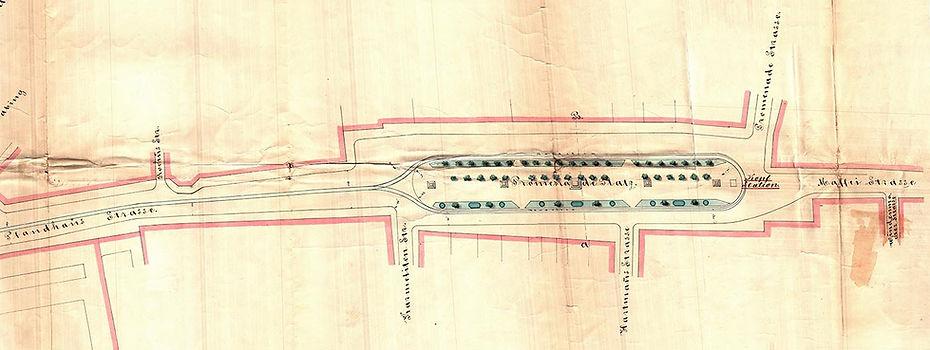 1875-02-20 Eingabe Plan Endstation Prome