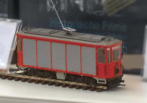 Münchner Post-Trambahn Spur H0 | rot  1935 - 1944 -motorisiert-