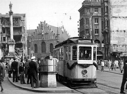 E-Tw 543 am Marienplatz Richtung Stachus münchen tram trambahn