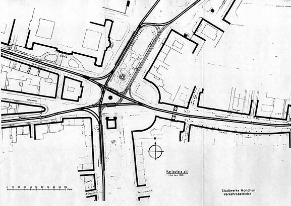 1953 03 Karlsplatz Stachus Knoten Schlei