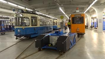 Fahrzeug-Rochade vor dem Öffnungstag münchen Tram Museum FMTM