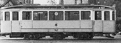 Wagen 748 / 747 umgebaut auf Lenkdreichser münchen tram