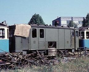 Schienschleifwagen Nr. 34 abgestellt 1972 münchn tram