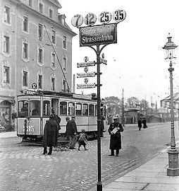 A1-Tw 335 am Ostfriedhof 1911 münchen tram