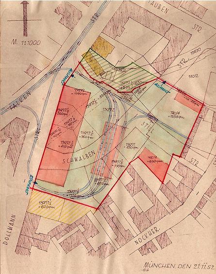 1952 Planung Dollmannstrasse Fahrleitung