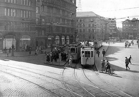 Eillinie 29 am Bahnhofspatz Mai 1934 tram münchen