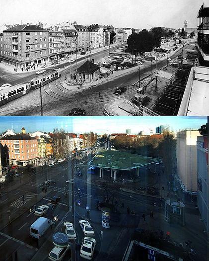 Vergleich 1966 zu 2016: damals begann gerade der U-Bahnbau tram münchen