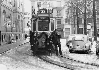 Letzte Fahrt mit F1-Tw 626 am 28.2.1970 tram münchen