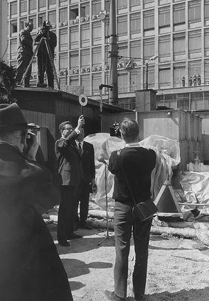 18.4.1966 Startschuß OB Vogel Umbau Stachus
