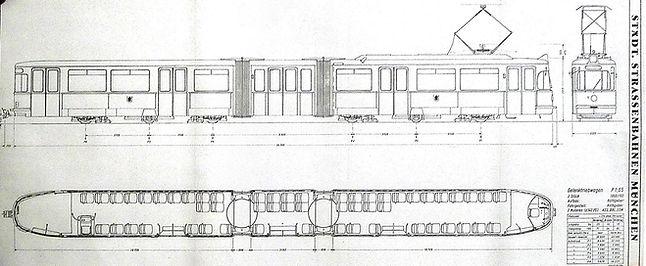 tram münchen 102 Tatzelwurm bauskizze