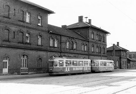 M3-Tw 790 + m3-Bw 1616 an der Endhaltestelle Isartalbahnhof März 1967 tram münchen
