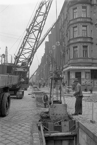 05-1938 U-Bahn Baustelle Lindwurmstrasse