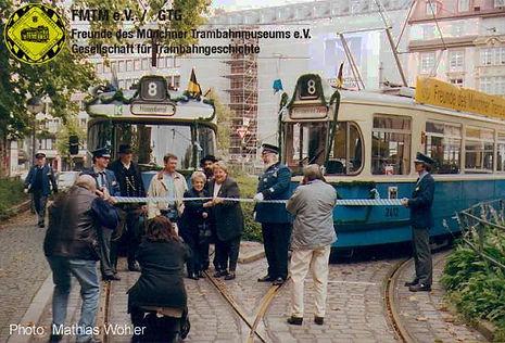 Vor 25 Jahren fuhr der letzte Achter tram münchen fmtm