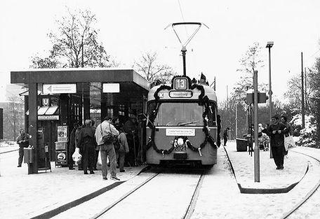 Letzter Betriebstag Tw 2021 am Scheidplatz 20.11.1993 münchen tram