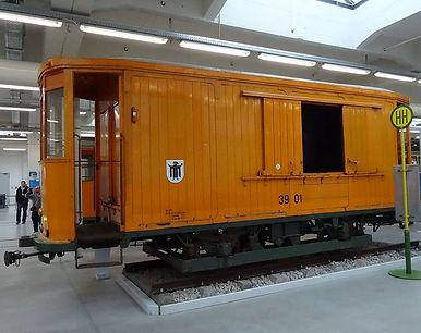 Salzwagen  Typ: s 4.48 Betriebsnummer 3901 im MVG-Museum münchen tram