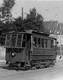 Schienenschleifwagen  Typ: SS 1.22 Betriebsnummer: 33 münchen tram