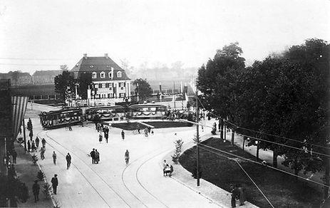 Eröffnungszug 589+1290+1291 in Berg-am-Laim 15.9.1926 tram münchen