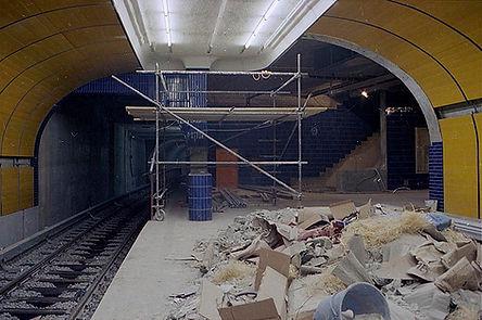Seltener Blick unter die Erde im Jahr 1970: der U-Bahnhof Marienplatz kurz vor der Fertigstellung.
