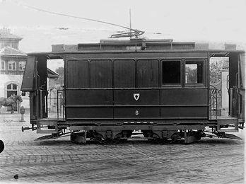 Werkstattwagen  Typ: W 2.22 Betriebsnummer: 6 München tram