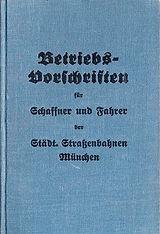 1931 Betriebsvorschriften Schaffner Fahr