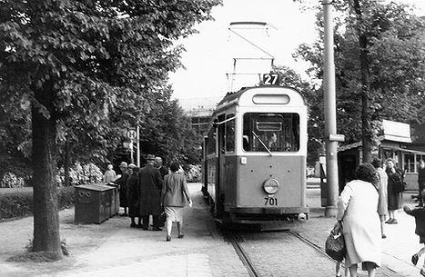 K-Tw 701 am Wettersteinplatz Mai 1964 münchen tram