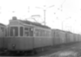 G-Tw 681 als ersten in einer langen Aufstellungsreihe auf dem Frei-Gelände des Betriebshofs 4 an der Soxhletstraße Tram Trambahn München