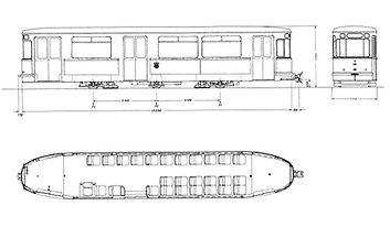 BEIWAGEN TYP m 3.64 3390 münchn tram m-wagen skizze zeicnung blueprint