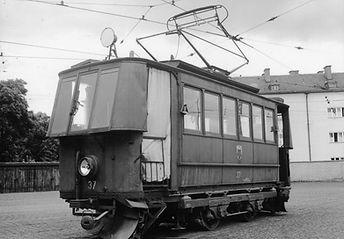 Schneepflugwagen  Typ: S 1.22 Betriebsnummer: 37 münchen tram