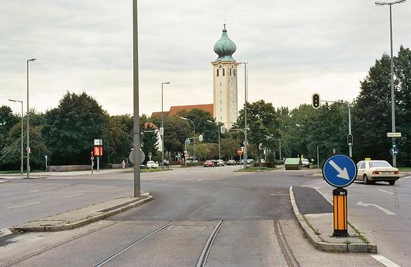 Ramersdorf-x-080996-Hüb-Tr6-92 tram Trambahn gleise Schienen München Ramersdorf