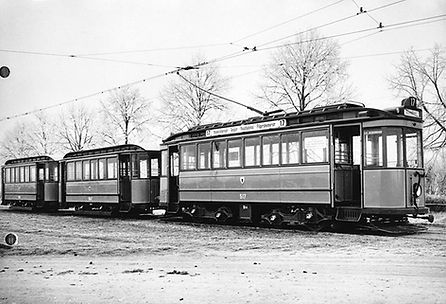 D1-Tw 517 + 2 c-Bw in der Grünwalder Straße 1926 tram münchen