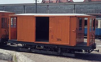 Salzwagen  Typ: s 3.50 Betriebsnummer 3914 München tram