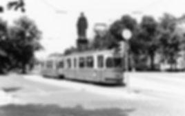 M4-Tw 886 + m4-Bw an der Haltestelle Maxmonument auswärts Juni 1968 tram münchen