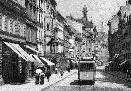 A2-Tw 251 in der Sendlinger Straße 1906 tram münchen
