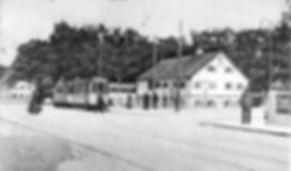 B-Tw  + c-Bw an der Endhaltestelle Pasing Marienplatz 1911 münchen Tram