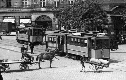 A-Tw an der Haltestelle Stachus 1914 tram münchen