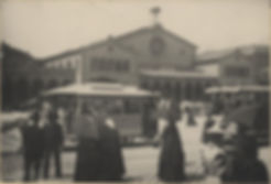 1895 Hauptbahnhof Pferdetrambahn Stadtar