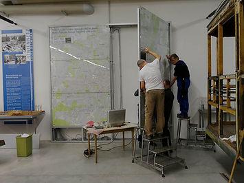 Erweiterung des Streckenplans im Museum münchen Museum tram fmtm
