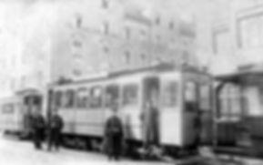 A2-Tw 153 + a-Bw an der Endhaltestelle Kazmair-/Trappentreustraße 1908 münchen tram