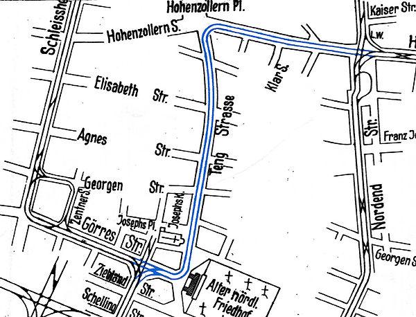 1924-07-04 Streckenplan Versuchsfahrt ho